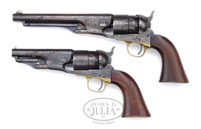 LOT OF TWO COLT MODEL 1860 ARMY REVOLVERS IDENTIFIED TO