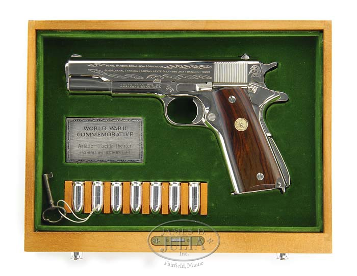 Lovely *COLT MODEL 1911A1 ASIATIC PACIFIC THEATER COMMEMORATIVE SEMI AUTO PISTOL.