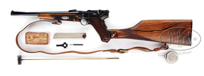 DWM MODEL 1902 LUGER CARBINE WITH MATCHING STOCK AND CASE