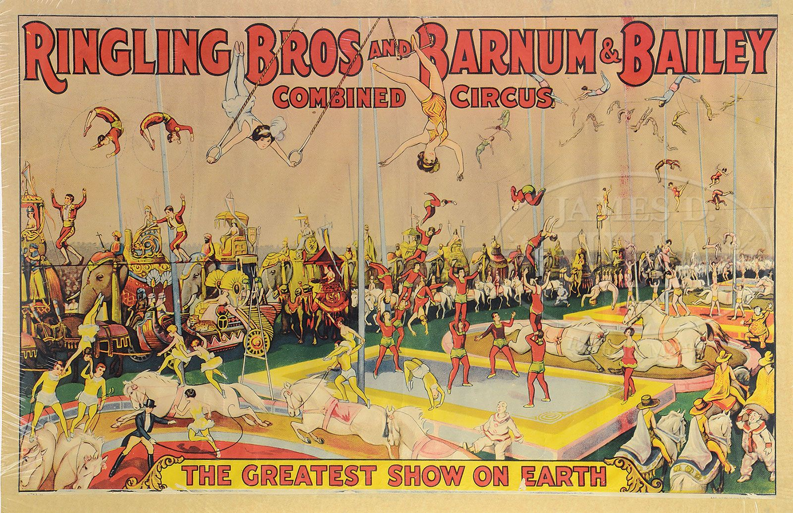 5 RINGLING BROTHERS/BARNUM & BAILEY CIRCUS POSTERS