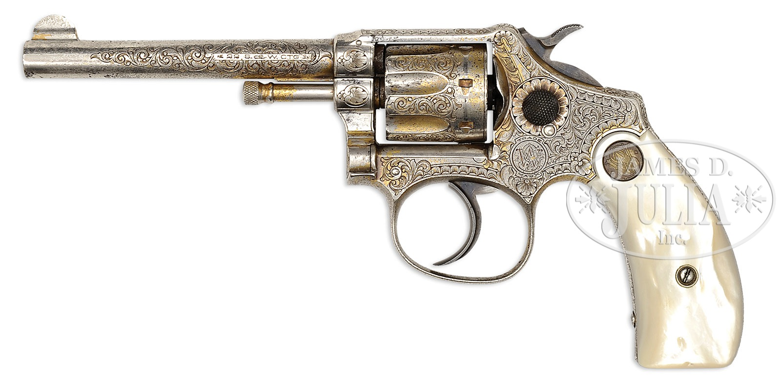 RARE ENGRAVED AND INSCRIBED SMITH & WESSON FIRST MODEL