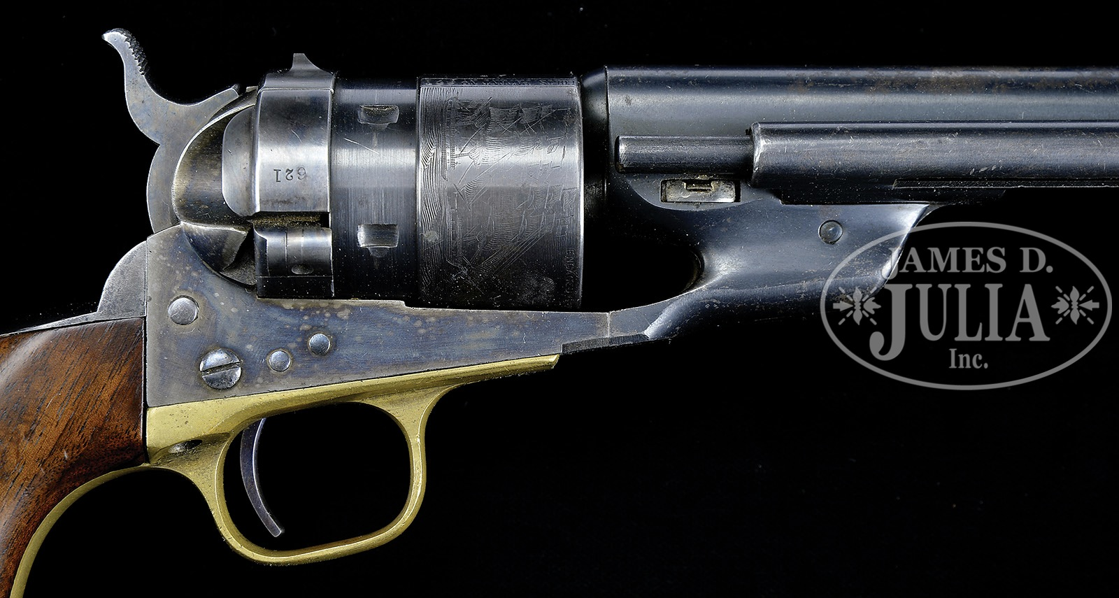 RARE MARTIALLY MARKED COLT MODEL 1860 ARMY RICHARDS CONVERSION REVOLVER