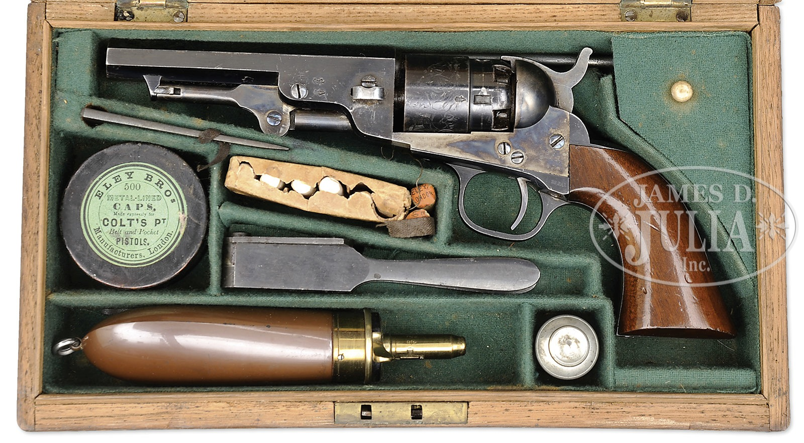 exceptional and rare cased london colt model 1862 pocket navy