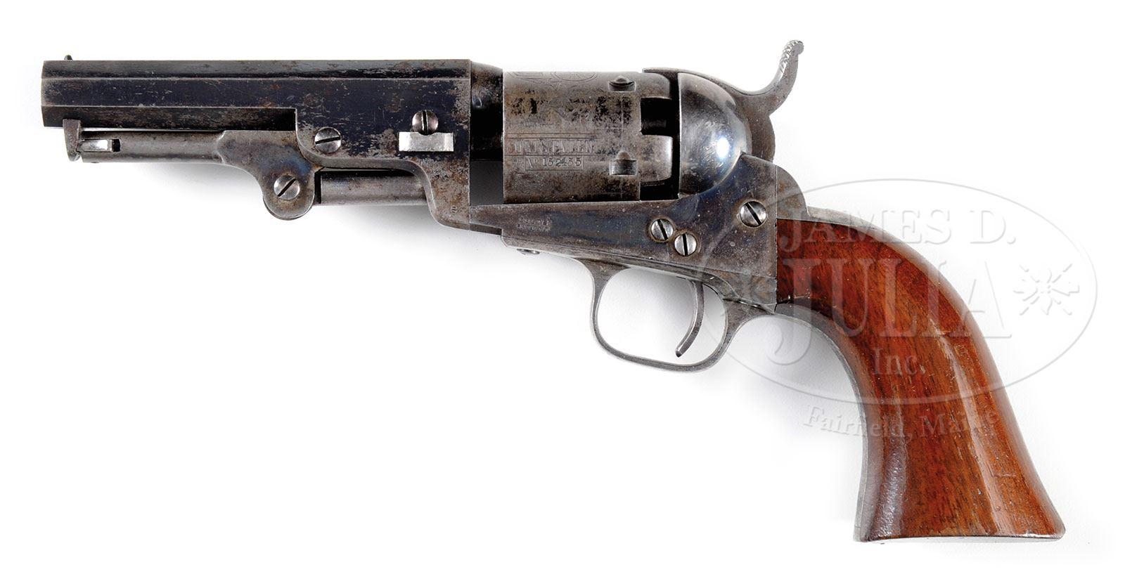 SCARCE CASED COLT MODEL 1849 POCKET PERCUSSION REVOLVER WITH IRON ...