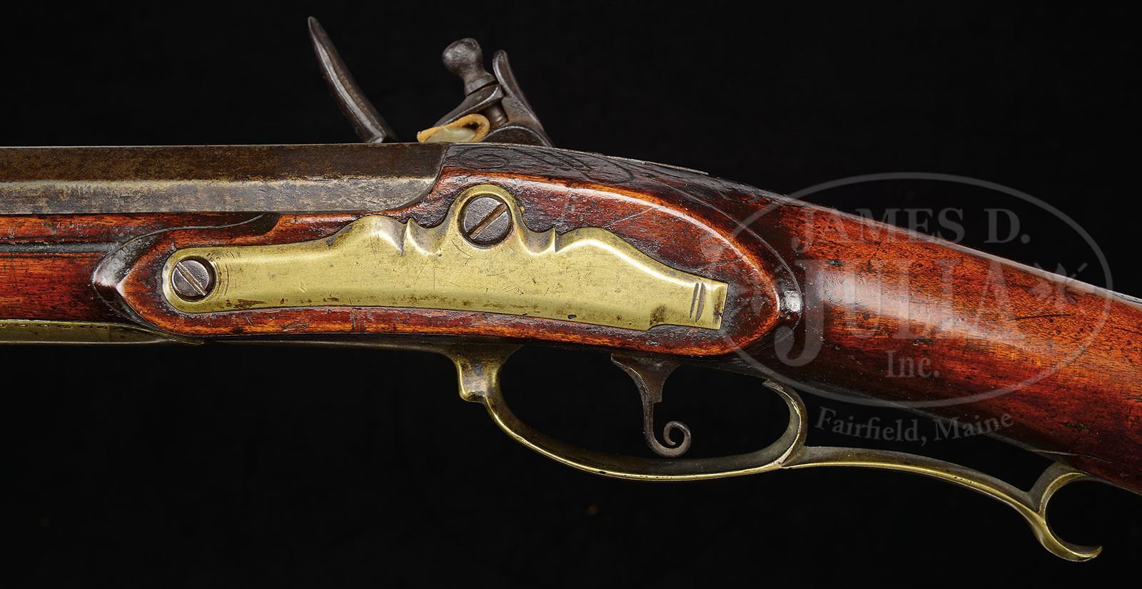 EXTREMELY FINE INCISED CARVED BUCK'S COUNTY RIFLE ATTRIBUTED