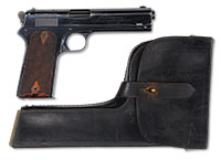 9dea7ca154 *EXTREMELY RARE COLT MODEL 1905 SEMI-AUTO PISTOL WITH ORIGINAL LEATHER  HOLSTER STOCK THAT BELONGED TO ELMER KEITH.