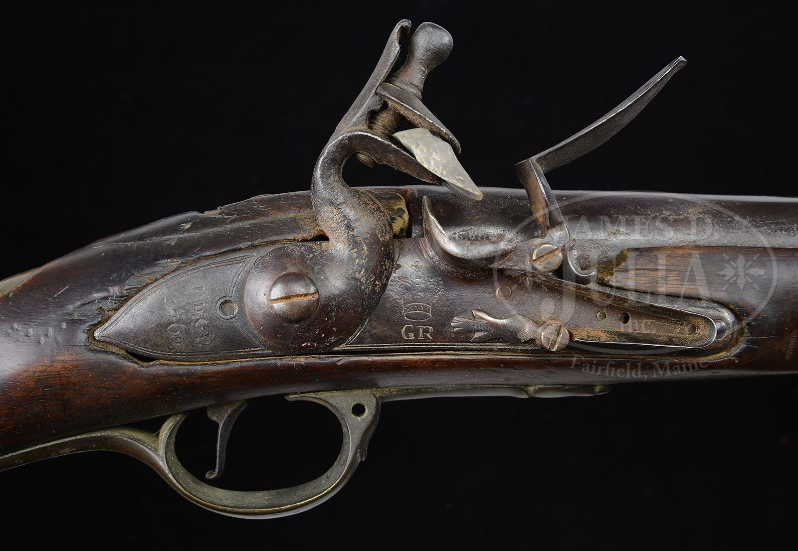 FIRST MODEL BROWN BESS MUSKET, LONG LAND PATTERN DATED 1762