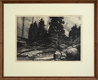 Decorative Arts Muller French Lithograph Gray Numerous In Variety Antique Georges Jeanniot Hand Colored Etching L