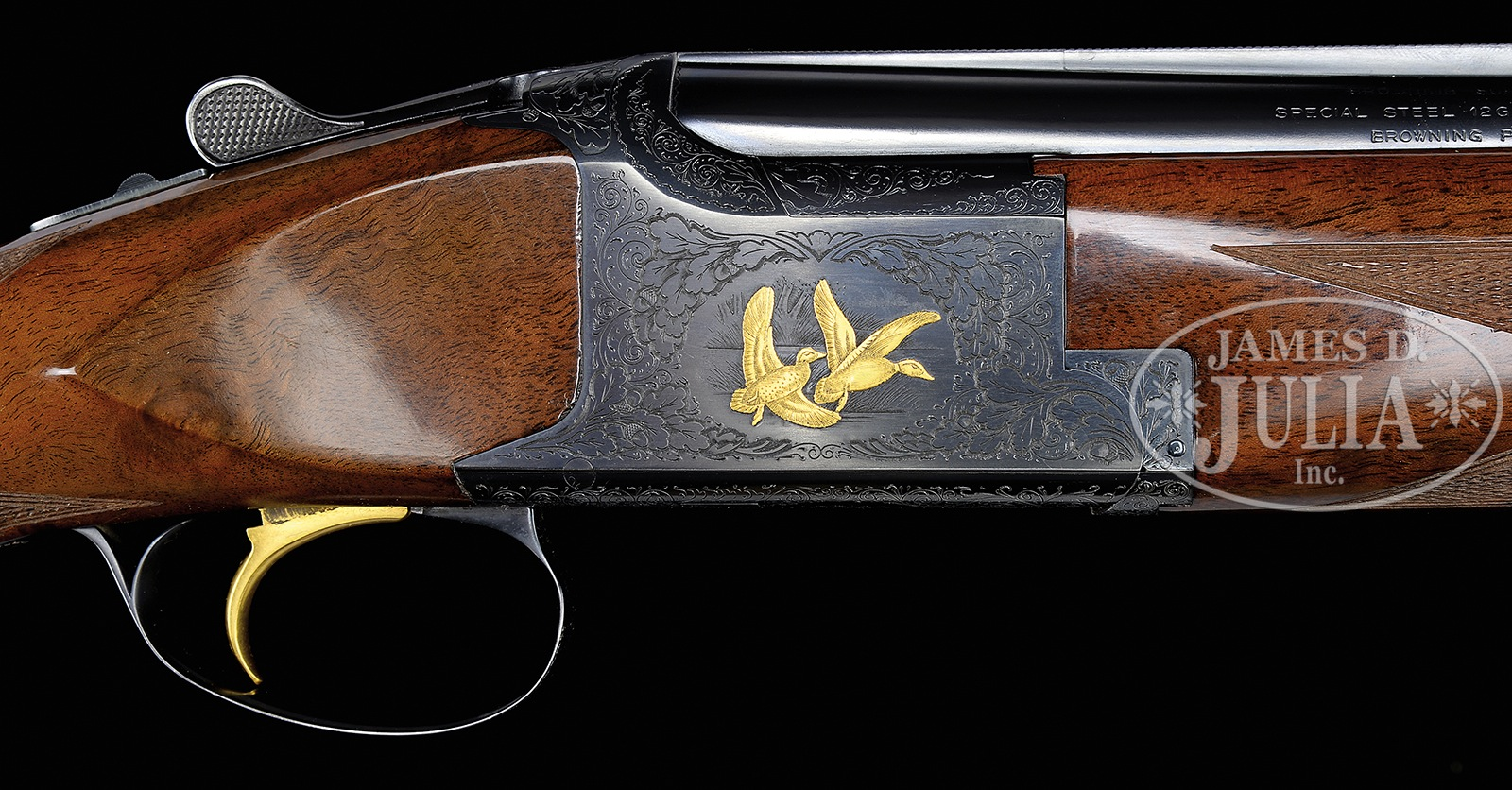 "BROWNING SUPERPOSED P 1 K WITH GOLD INLAY ""MAGNUM"" MODEL"