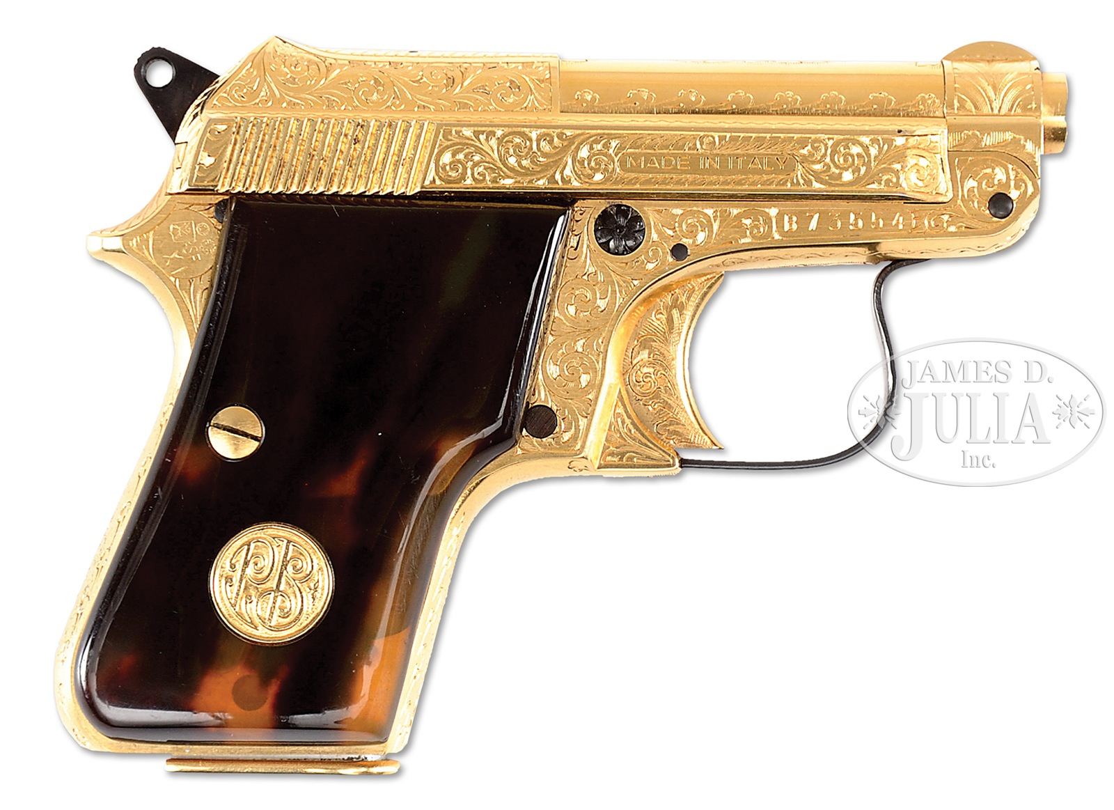 FACTORY ENGRAVED BERETTA MODEL 950B WITH PRESENTATION CASE