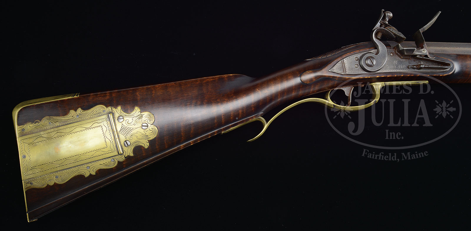 FINE CONTEMPORARY RELIEF CARVED VIRGINIA RIFLE BY MASTER