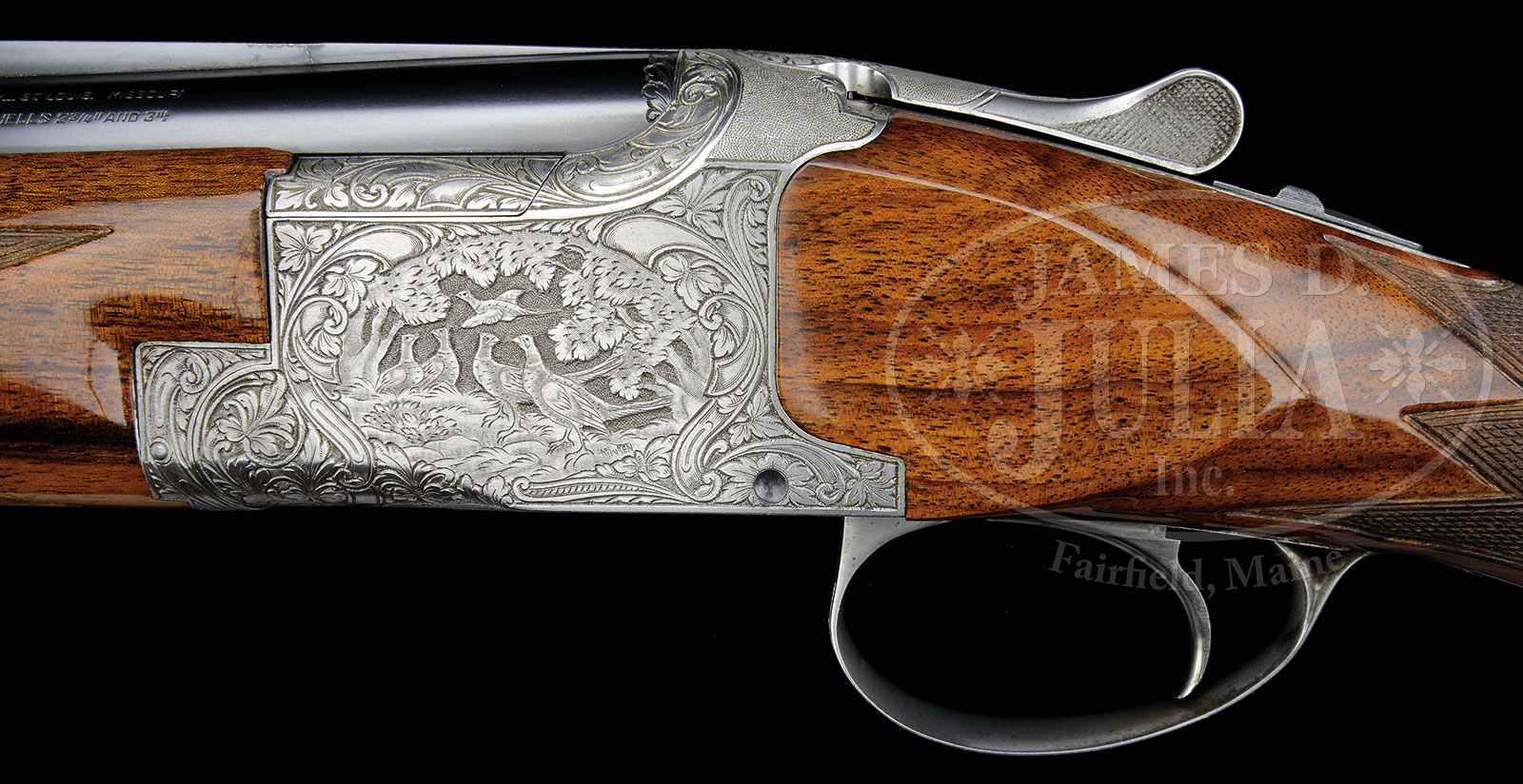 BROWNING SUPERPOSED GRADE V 20 GAUGE SHOTGUN ENGRAVED BY FUNKEN