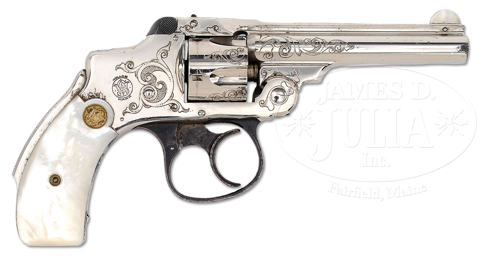 VERY FINE FACTORY ENGRAVED AND INSCRIBED SMITH & WESSON 32