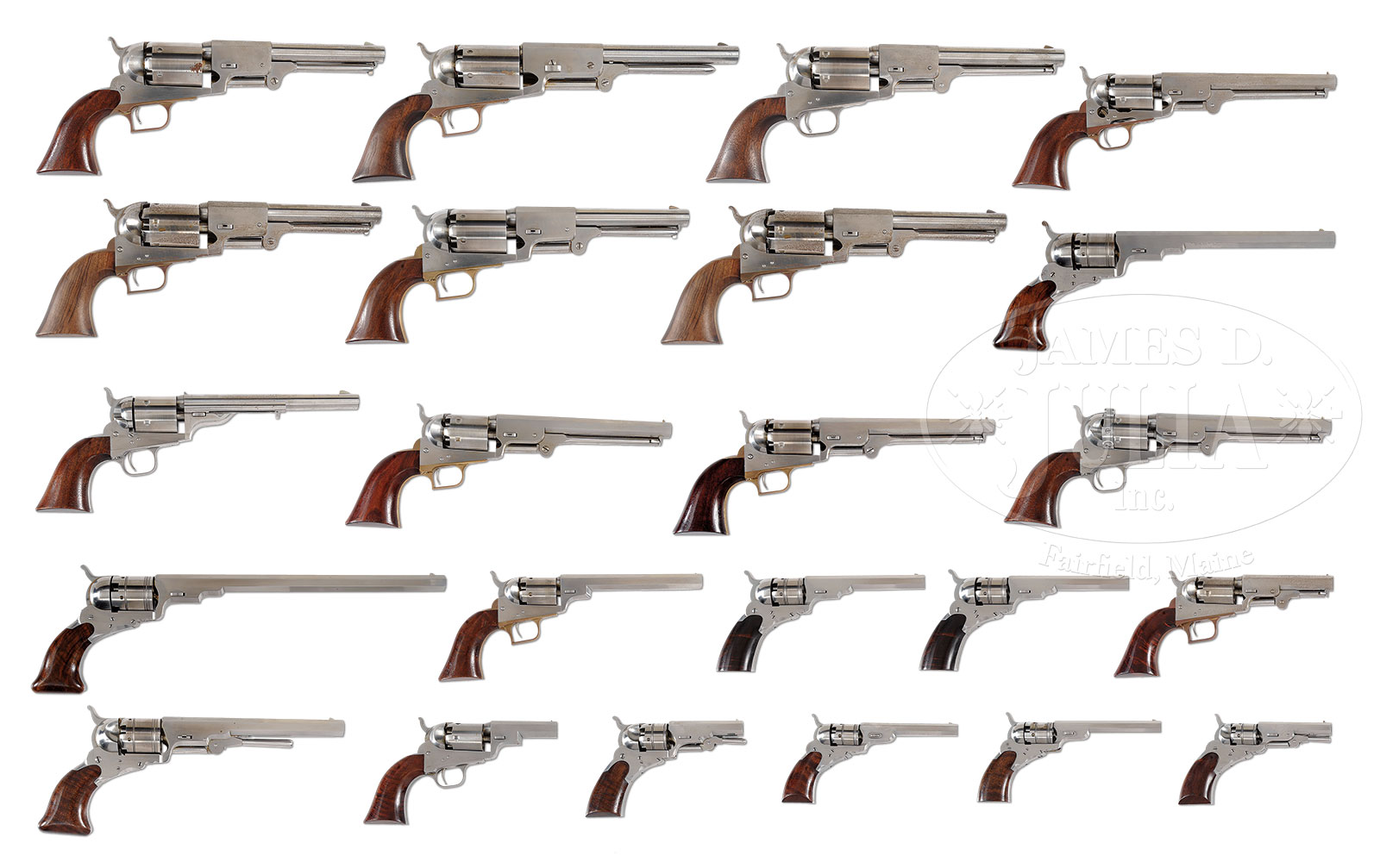 INCREDIBLE COLLECTION OF REPRODUCTION COLT REVOLVERS