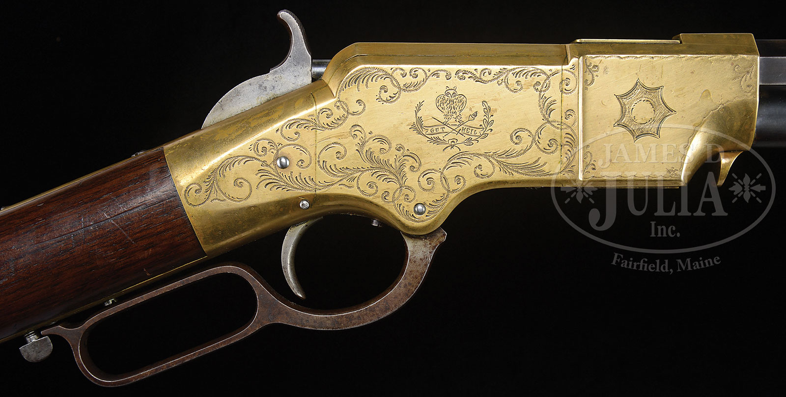 SPECTACULAR ENGRAVED AND IDENTIFIED HENRY RIFLE WITH CIVIL WAR ...