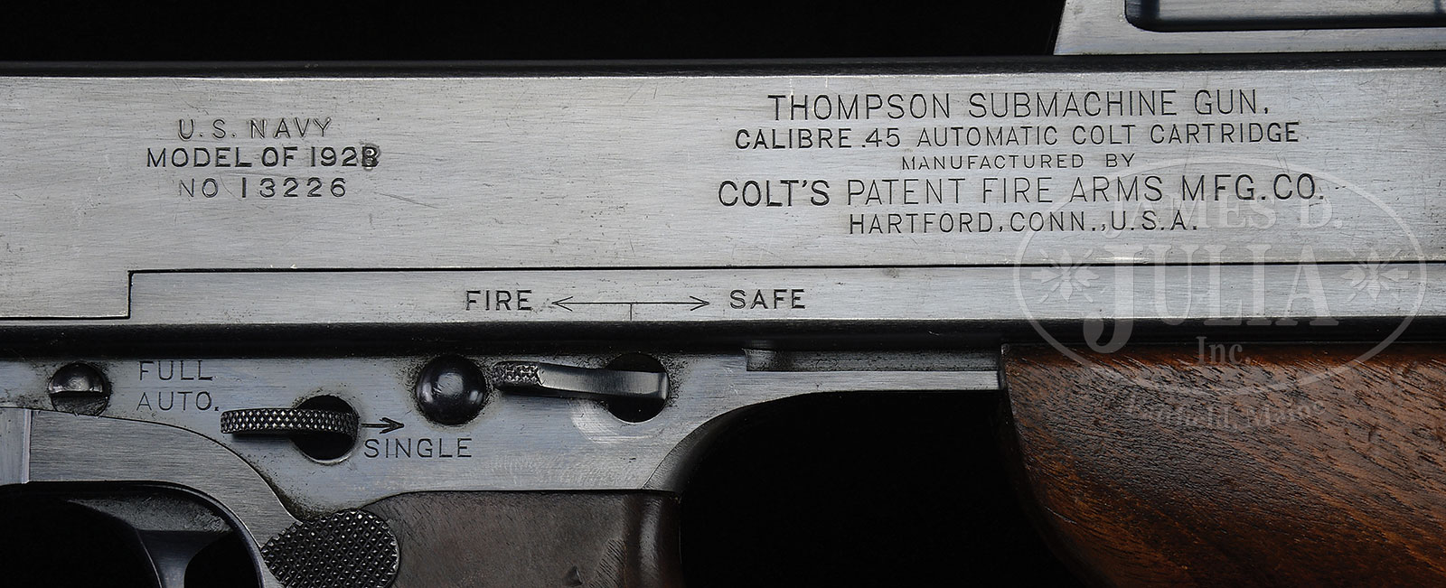 VERY FINE COLT U S  NAVY MODEL 1921/28 AC OVERSTAMP THOMPSON