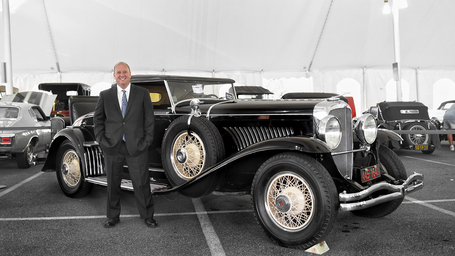 Dan Morphy, Owner and Founder with all-original 1929 Duesenberg J convertible.