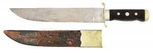 "LOT #2276: RARE AND NEWLY DISCOVERED ""IMPROVED PATTERN"" BOWIE KNIFE BY SCHIVELY, PHILADELPHIA"