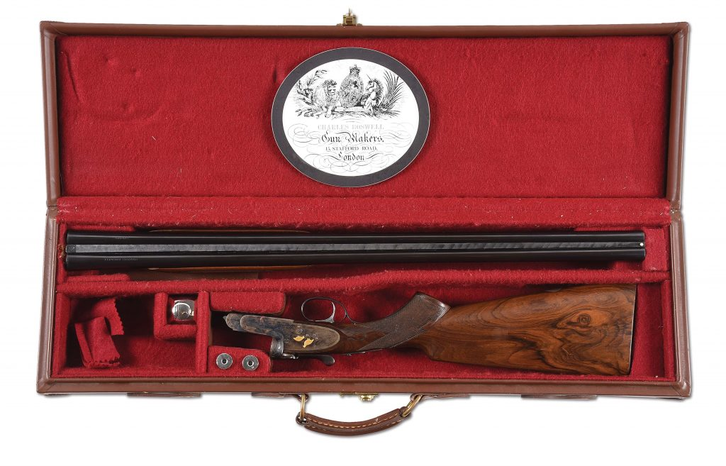 LOT #3529: CHARLES BOSWELL 20 BORE SLE SIDE BY SIDE SHOTGUN WITH CASE